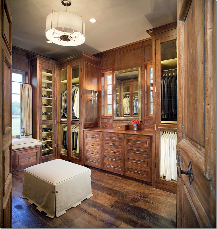 All Wood Walk In Custom Closet Design