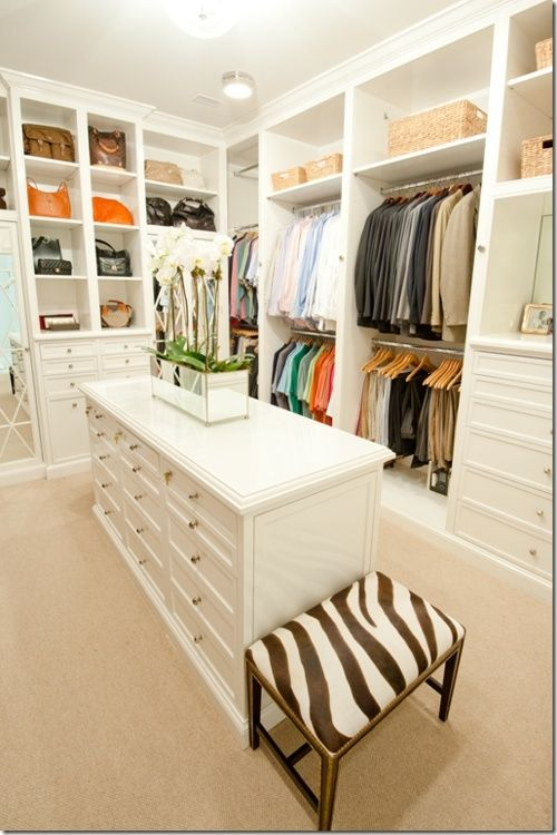 art deco white-closet