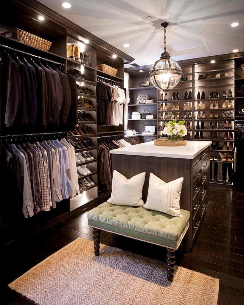 luxury all wood custom design closet