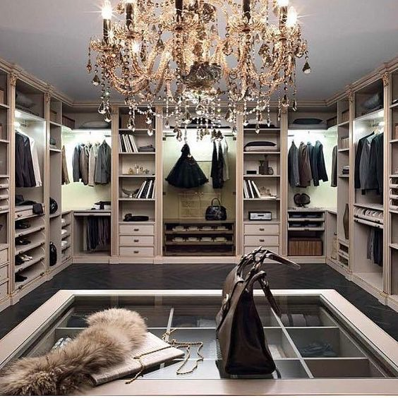 luxury dark wood custom design closet