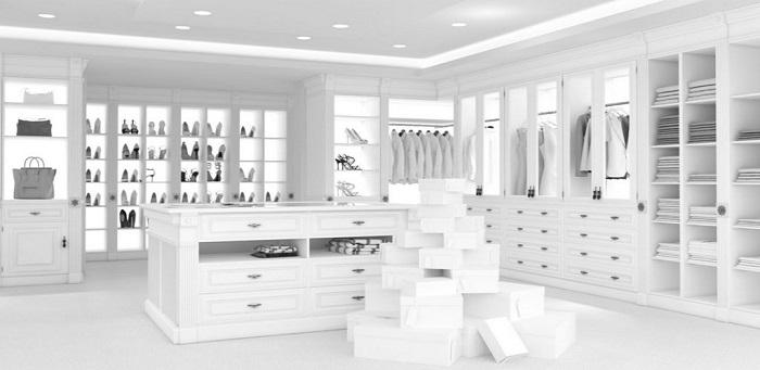 luxury white closet